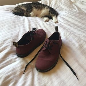 Dr. Martin maroon shoes